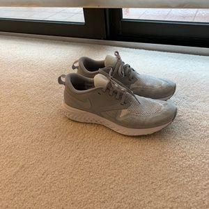 Nike odyssey react 2 -flyknit, grey, size 9.5